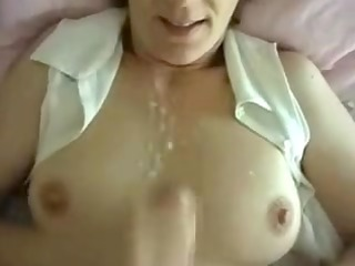 naughty maiden private sperm on chest
