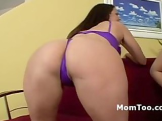 plump mother and her daughter get ready for a