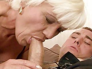 extremely impressive grandma banging a man