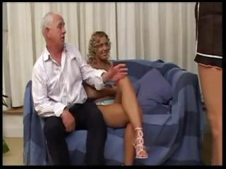 foreign slut takes gang-banged by an old british