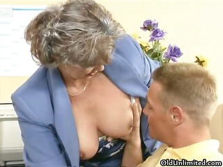naughty granny bitch getting her shaggy cave