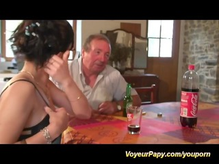 our voyeur papy enjoys fresh chicks