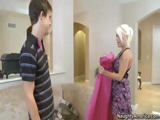 super pale lady bride with huge knockers gets