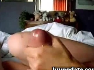amateur woman gives teasing handjob