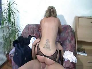 awesome german older banged on the armchair