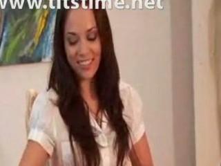 grown-up girl seduces more juvenile chick