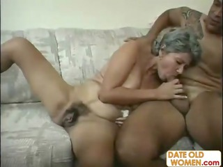 chubby shaggy mature babe gets large penis