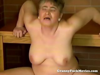 horny granny open-air pounding