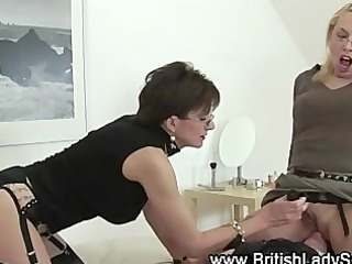 couple of sluts and a whip own dominating against