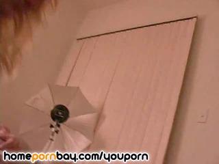 gorgeous blonde woman into bikini dildoing with