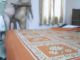 cougar indian pair making like inside bedroom