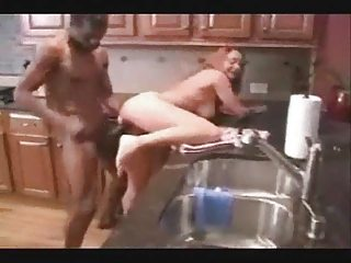 cuckold wife gang bang with ebony bull on