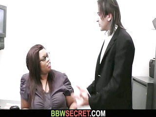 nuptial boss seduces his heavy dark associate