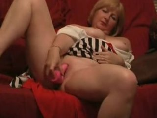 older housewife sex toy plunging
