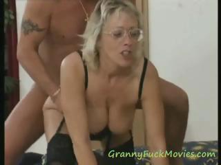 huge tit elderly three people