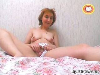 desperate red-haired older chick bitch rubbing