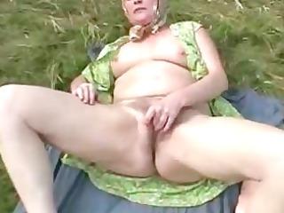 later door old rubbing her old hirsute granny