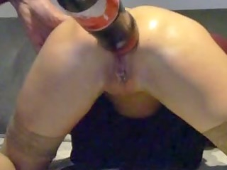 video of a granny doing horny anal