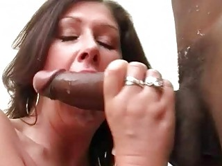 large boobed bitch wife copulates dark hunk into