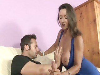 brunette babe with large pure boobs gives giant