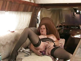 milf filthy talking with ass plastic cock