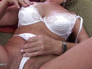 grown-up mother franscina rides dildo uneasy and
