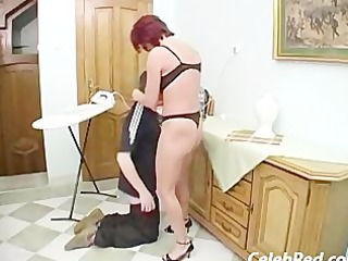 fresh mature babe butt gang-banged and facialed