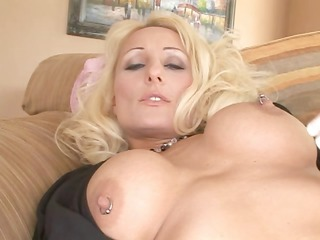 busty milf eats his cock and then gets it up her