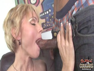 stunning ashen mother fucked by two large black