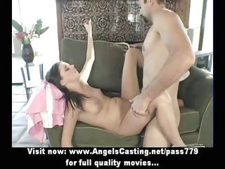 naked brunette with fucking in cave drilled