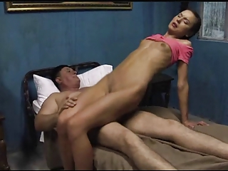 old man fucks and kiss thin young (nataly gold)