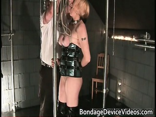 nastu bleached angel is bound and spanked