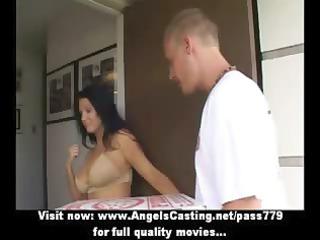 extremely impressive latina girl does dick