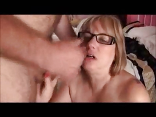 heavy mother obtaining a facial
