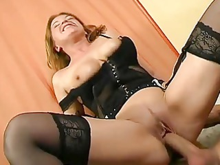 ancient girl inside brown stockings
