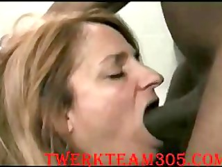 young woman deepthroath large black dick mixed