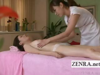 subtitled japanese angel lesbian oil massage
