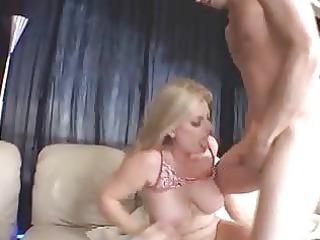 blonde milf, big boobs