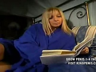 blonde european mother likes with son