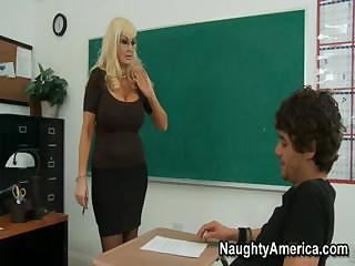 these desperate blond mature babe of a lecturer