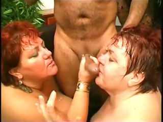 two bbw mature sucks and copulates with