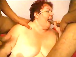 2 inexperienced men gang bang older bbw bbw