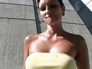 young grown-up chick al fresco banged and jizzed
