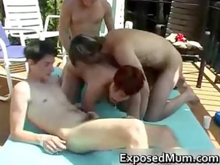 openair bunch drill with surprising mature babe