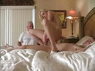 housewife cuckolds her man