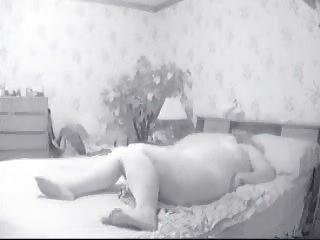 fat woman masturbating on bed. hidden cam cougar
