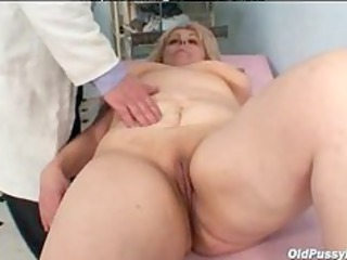 old miriam enjoy gyno exam speculum exam cougar