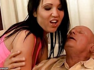 busty grandpa enjoys pierce with extremely