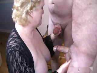 nice granny with two boys