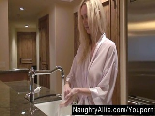 cream with my coffee – dildoing blond housewife